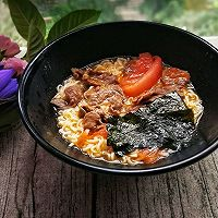 番茄牛肉紫菜面#天天秀美食#的做法图解10