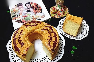 空气炸锅版拉花蛋糕#盛年锦食·忆年味#