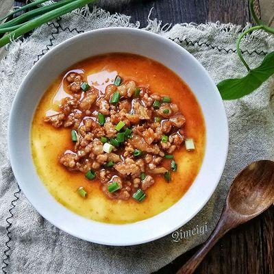 鸡蛋和瘦肉这样做,鲜嫩美味,做法用料超简单,上桌2分钟吃光