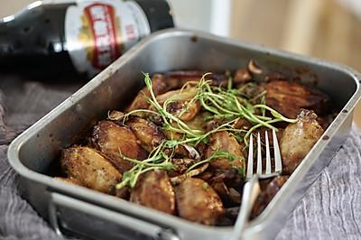 创意烤箱菜 |啤酒土豆烤鸡翅