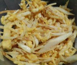 茭白炒蛋的做法