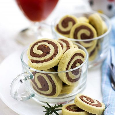 【豆沙圈圈饼】颜值和美味兼具的手工饼干