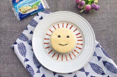 #安佳儿童创意料理#太阳伯伯芝士汉堡