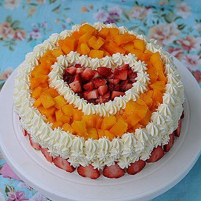 【美的绅士烤箱】芒果草莓蛋糕