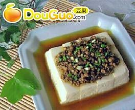 榄菜肉末蒸豆腐的做法