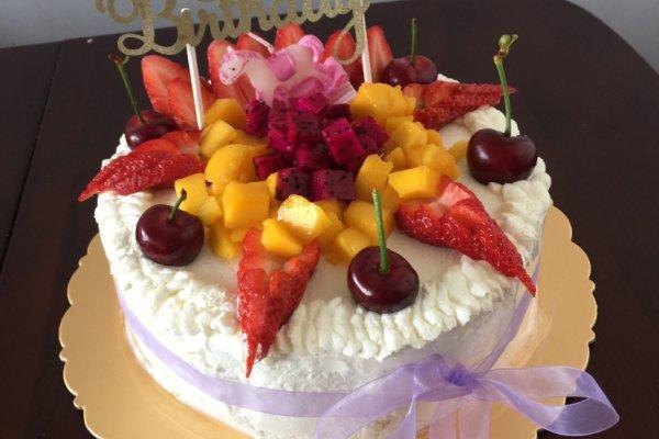 十寸水果蛋糕#豆果五周年图片