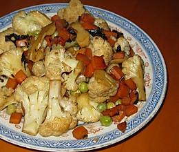 素炒椰菜花的做法