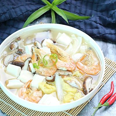 娃娃菜煮豆腐汤