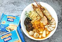芝士海鲜菌菇年糕火锅#百吉福食尚达人#的做法