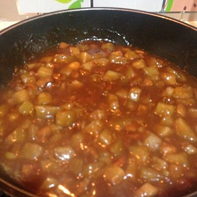 茄子卤面条,私房做法