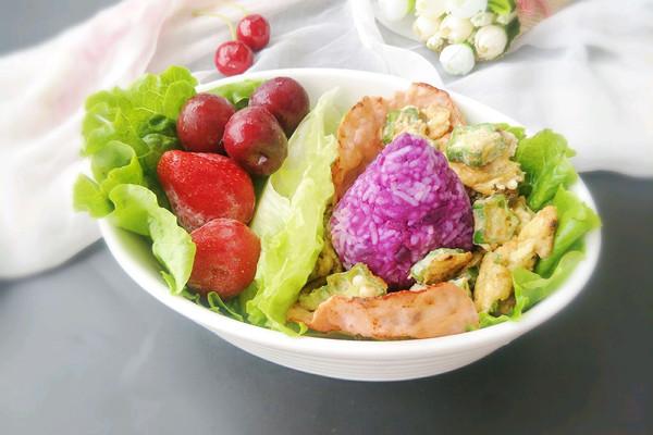 紫薯火腿营养便当#理想生活实验室#的做法