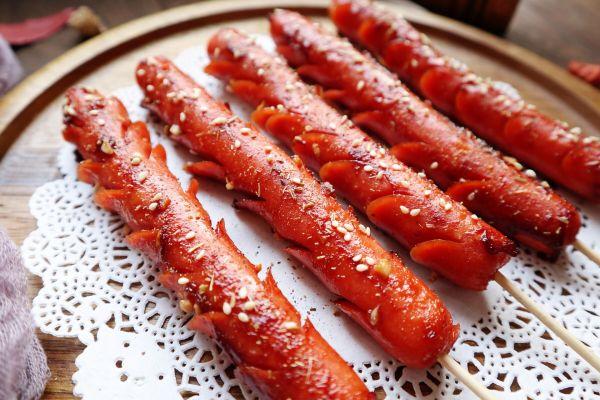 低油版烤箱烤火腿肠的做法