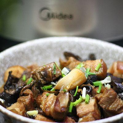 蘑菇烧肉(蒸)