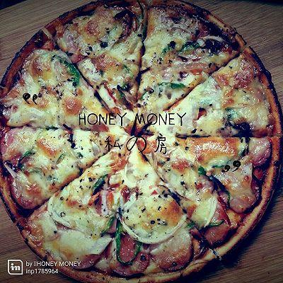 pizza懒人披萨(连和面都省了)