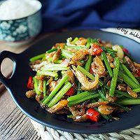 下饭菜|韭花炒河虾的做法图解9