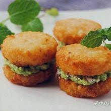 #美国马铃薯#牛油果薯饼汉堡