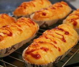 培根芝士面包的做法