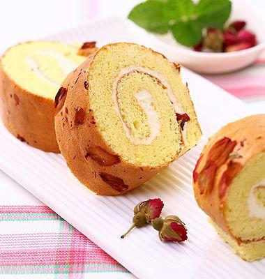 玫瑰芝士蛋糕卷
