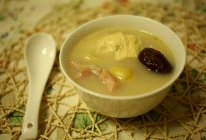 白果腐竹猪肚汤的做法