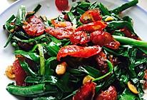 韭菜炒腊肠的做法