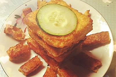简单营养早餐黄金土司夹火腿