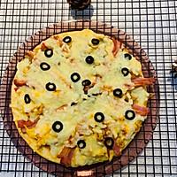 自創:榨菜、雞蛋雙拼烤披薩;的做法圖解8