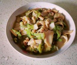 双炒丝瓜杏鲍菇的做法