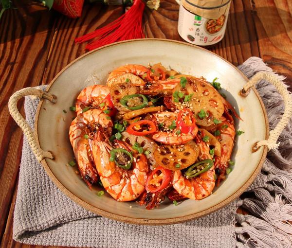 万事红火干锅虾的做法