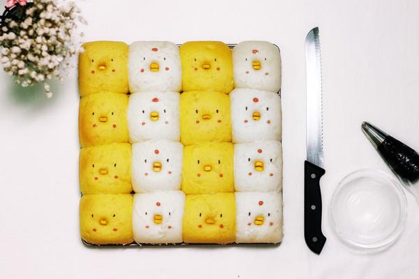 亲子小丑鸡面包