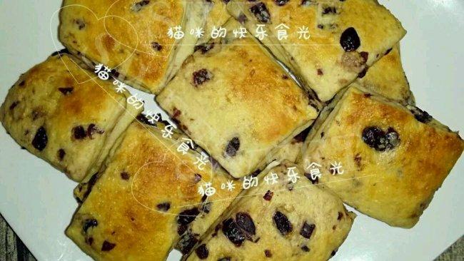 蔓越莓面包块的做法