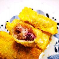 #福气年夜菜#香蕉紫薯派的做法图解9