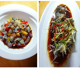 海参斑一鱼两吃---温拌海参斑鱼皮,豆豉蒸海参斑的做法