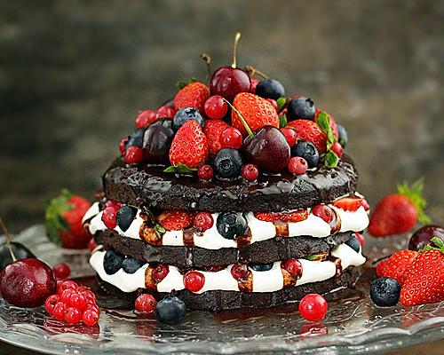 经典巧克力裸蛋糕的做法