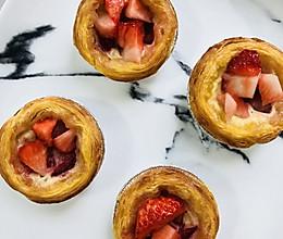 爆浆蓝莓~草莓蛋挞的做法