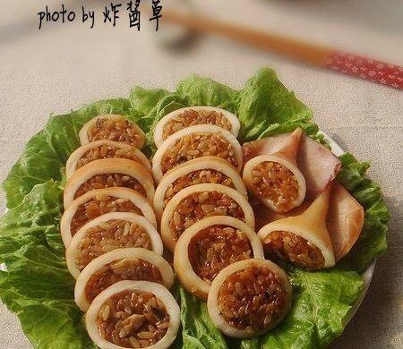 鱿鱼糯米卷