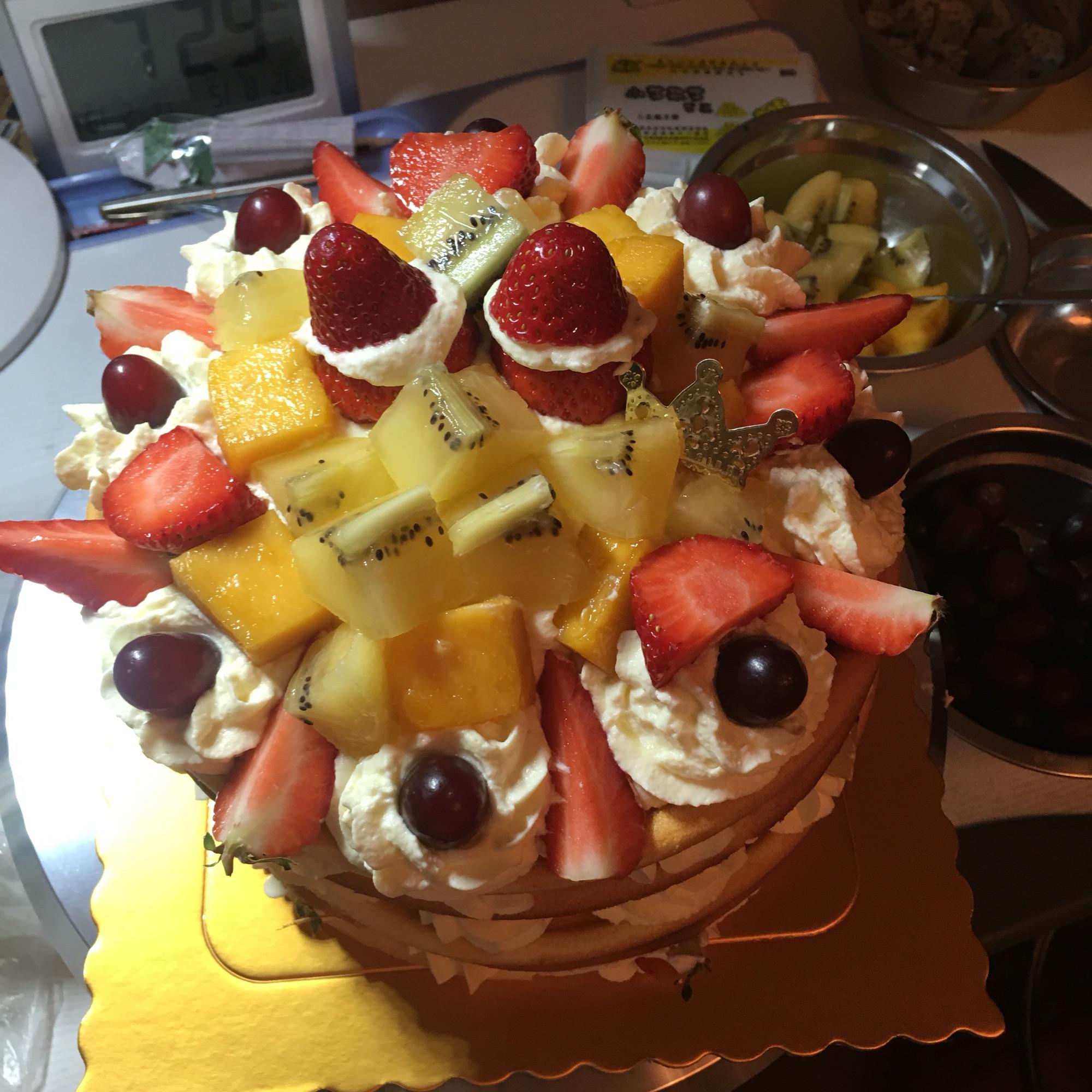 水果裸蛋糕的做法