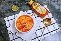 #太太乐鲜鸡汁玩转健康快手菜#西红柿鸡蛋汤的做法