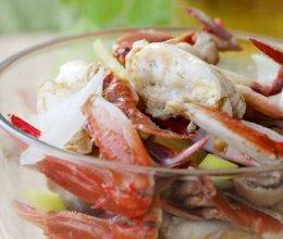 草菇炒花蟹的做法