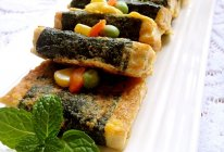 海苔豆腐煎的做法