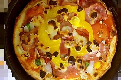 蔬菜培根披萨