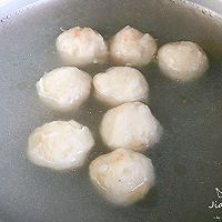#春季减肥,边吃边瘦#荠菜虾丸汤的做法图解4