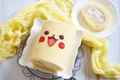 皮卡丘蛋糕卷#童年不同样,美食有花样#