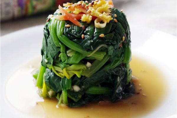 #菁选酱油试用之菠菜塔的做法