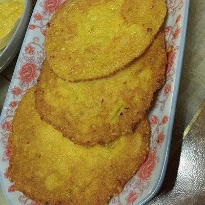 新鲜玉米浆摊饼