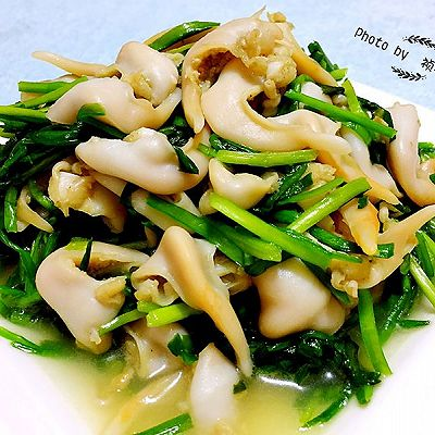 韭菜炒鸟贝