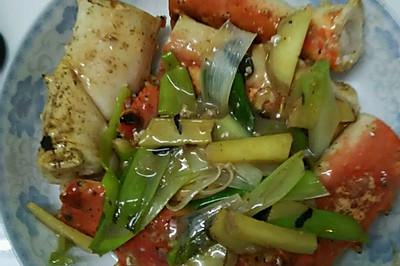 葱姜焗帝王蟹腿