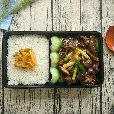 传统粤菜,耗油香菇牛肉便当,超级下饭!