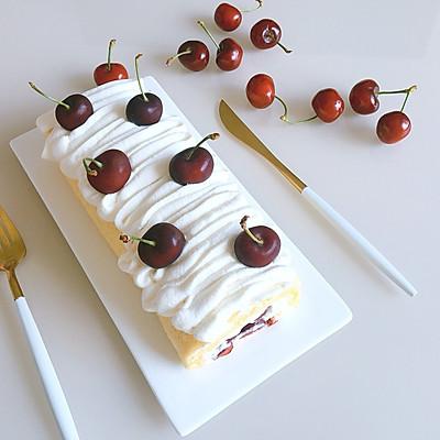 樱桃蛋糕卷(超详细多图教你卷不裂)