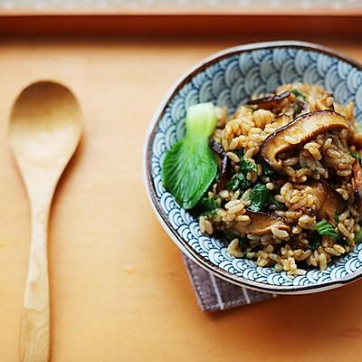 香菇油菜烩饭