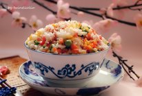 难忘儿时的记忆|缤纷炒米饭#舌尖上的春宴#的做法